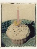 Birthday Cupcake Photographic Print by Jennifer Kennard