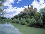 Melk Abbey and Danube Fotografisk trykk av Jim Zuckerman