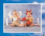 Niños celestiales: el bien vence Láminas por Tom Arma