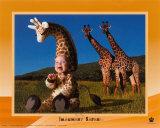 Safari imaginario: jirafa Pósters por Tom Arma