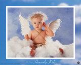 Un niño celestial escucha Póster por Tom Arma
