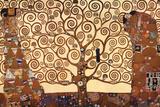 De levensboom Poster van Gustav Klimt