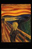 Le cri, vers 1893 Posters par Edvard Munch