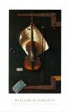 The Old Violin Posters af William Michael Harnett
