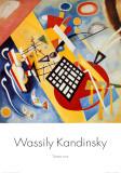 Sort ramme Plakater af Wassily Kandinsky