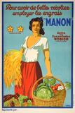 Manon (c. 1925) Impressão colecionável por  Viano