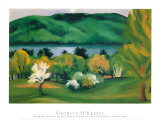 Lake George, Early Moonrise Spring, 1930 Plakater af Georgia O'Keeffe