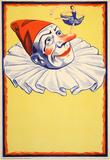 Clown on Yellow Background (c.1930) Sammlerdrucke