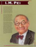 Great Asian Americans - I.M. Pei Plakat