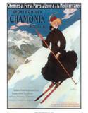 Chamonix, Sports d`Hiver Affischer av Abel Faivre