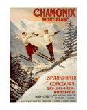 Chamonix: Mont Blanc (patinaje en hielo) Póster por Francisco Tamagno