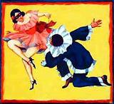 Pierrot et Colombine (c.1935) Impressão colecionável