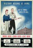 Victory Begins at Home (c.1940) Impressão colecionável