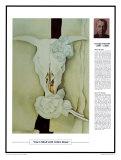Obras maestras del siglo veinte: Georgia O'Keeffe, calavera de vaca con rosas cálico Lámina por Georgia O'Keeffe