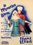 La Mazourka Bleue (c.1930) Impressão colecionável por Georges Dola
