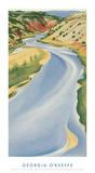 Río azul Pósters por Georgia O'Keeffe