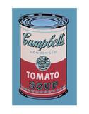 Lata de sopa Campbell, 1965, rosa y rojo Láminas por Andy Warhol