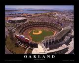 Oakland: Network Associates, Athletics Baseball Art by Mike Smith