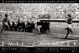 Emil Zatopek - Triple Gold Poster