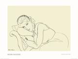 Jeune Fille avec Tiare Posters van Henri Matisse
