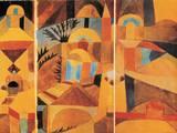 Les jardins du temple Affiches par Paul Klee