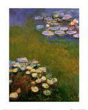 Water Lilies, Harmony in Blue Prints by Claude Monet