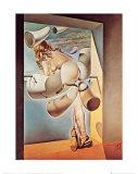 Jeune vierge autosodomisée par les cornes de sa propre chasteté Poster par Salvador Dalí
