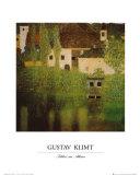 Castello Sul Lago Atter Poster por Gustav Klimt