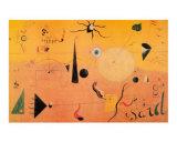 Paysage Catalan (Le Chasseur), c.1923 Kunst af Joan Miró