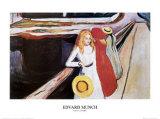 Jente på broen Plakater av Edvard Munch