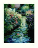 Flower Bank and Water Lilies Collectable Print by Mark King