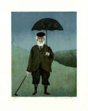 Rainy Day in Scotland Collectable Print by Guy Buffet