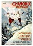 Chamonix Mont-Blanc Serigrafia tekijänä Francisco Tamagno