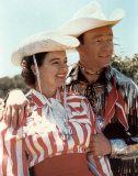 Roy Rogers & Dale Evans (oversized postcard) Poster