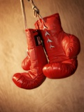Red Boxing Gloves Fotografisk tryk
