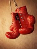 Red Boxing Gloves Premium-Fotodruck