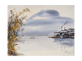 Shimmery Lake Gicléedruk van Chi Wen
