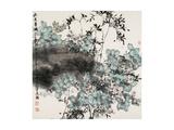 Flowers in the Rain Lámina giclée por Wanqi Zhang