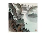 Poetic Li River No. 14 Giclee Print by Zishen Zhang