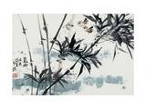 Birds in Winter Morning Giclee Print by Wanqi Zhang