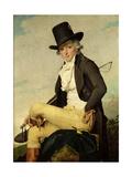 Portrait of Pierre Seriziat (1757-1847) the Artist's Brother-In-Law, 1795 Reproduction procédé giclée par Jacques-Louis David