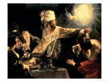 Belshazzar's Feast circa 1636-38 Giclée-vedos tekijänä  Rembrandt van Rijn