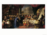 Jean-Baptiste Colbert (1619-1683) Presenting the Members of the Royal Academy of Science Giclee Print by Henri Testelin