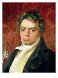 Portrait of Ludwig Van Beethoven (1770-1827) Impressão giclée