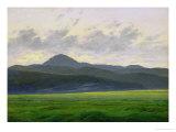 Mountainous Landscape Giclée-tryk af Caspar David Friedrich
