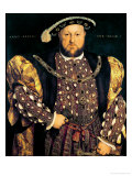 Portrait of Henry VIII (1491-1547) Aged 49, 1540 Giclée-tryk af Hans Holbein the Younger