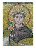 Emperor Justinian I (483-565) circa 547 AD Giclee Print