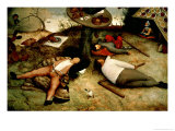 Land of Cockaigne, 1567 Giclée-vedos tekijänä Pieter Bruegel the Elder