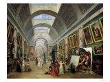 View of the Grand Gallery of the Louvre, 1796 Reproduction procédé giclée par Hubert Robert