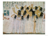 Weeping Women in a Funeral Procession, from the Tomb-Chapel of Ramose Vizier and Governor of Thebes Giclee Print